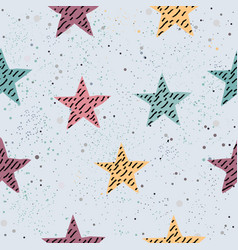 cute star background seamless pattern with stars vector image