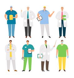 doctors characters set vector image