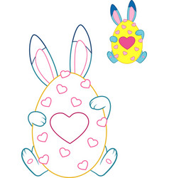 easter bunny coloring page vector image