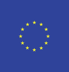european flag official colors and proportion vector image