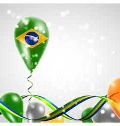 Flag of Brazil on balloon vector