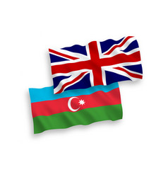 Flags great britain and azerbaijan on a white vector