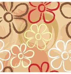 Flower pastel print vector