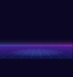 future retro line background of the 80s vector image