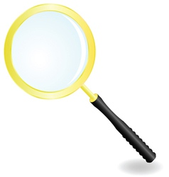 Golden magnifier vector