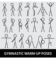 Gymnastic warm-up poses eps10 vector