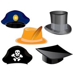 Headdresses on white background vector image