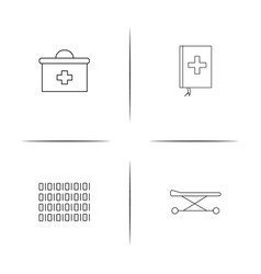 healthcare and medical simple linear icon vector image