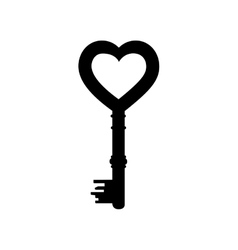 Heart shape key icon image vector