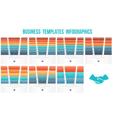 horizontal colorful strips for text templates for vector image
