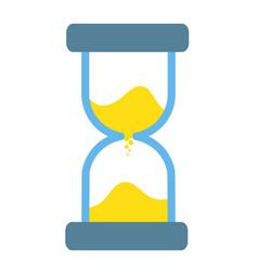 hourglass sandglass antique instrument icon on vector image