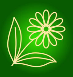 Icon flower with leaves vector