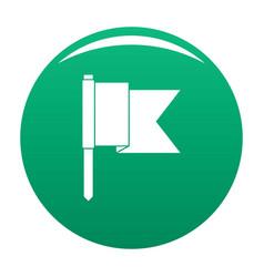 Information flag icon green vector