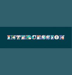 Intercession concept word art vector
