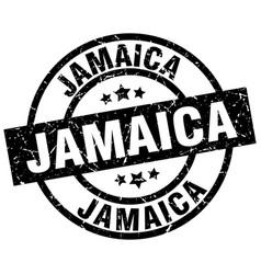 Jamaica black round grunge stamp vector