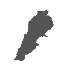 Lebanon map black icon on white background vector