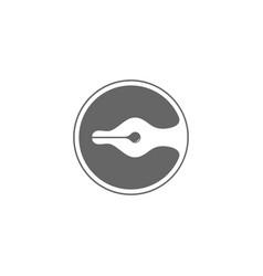 Letter c pen ink curves design symbol logo vector