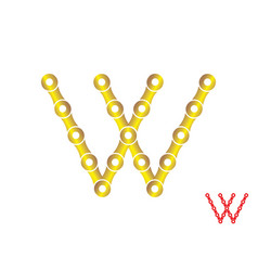 letter w logo chain concep vector image