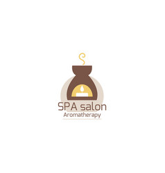 Logo design graphics for spa relax aromatherapy vector