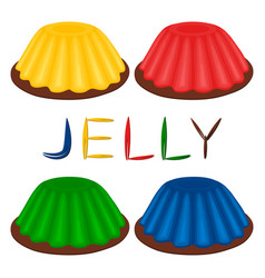 Logo for set various dessert jelly vector
