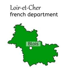 Loir-et-Cher french department map vector