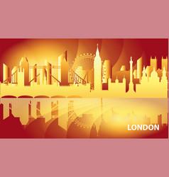 london skyline 15 vector image