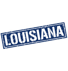 Louisiana blue square stamp vector