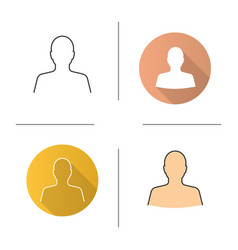 mans silhouette icon vector image