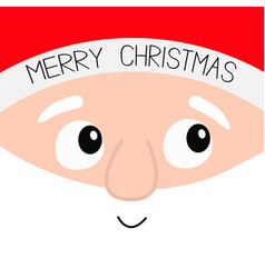 merry christmas santa claus big head square face vector image