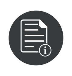 Monochrome round information document icon vector