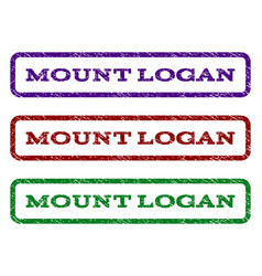 Mount logan watermark stamp vector