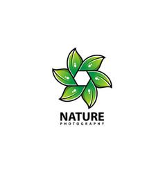 Nature photography logo design icon vector