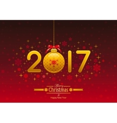 New Year 2017 poster banner abstract template vector