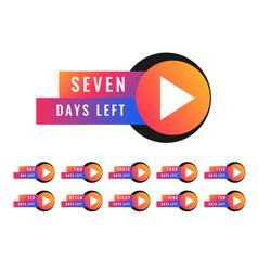 Number of days left stocker badge symbol design vector