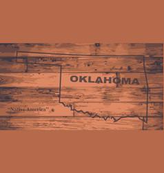 Oklahoma map brand vector