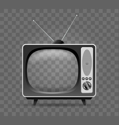 Old television icon vector