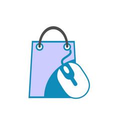 online shop store icon logo design vector image
