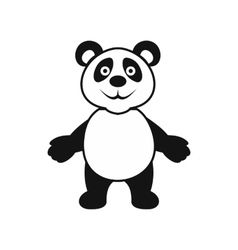 Panda bear icon simple style vector