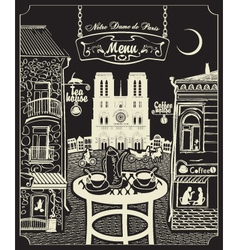 Paris cafe vector image