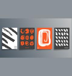 pattern brush minimal design for cards poster vector image