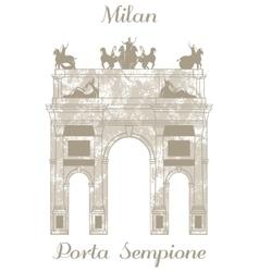 Porta Sempione in Milan vector