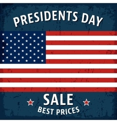 Presidents day poster vector