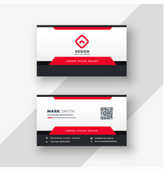 professional red business card design vector image