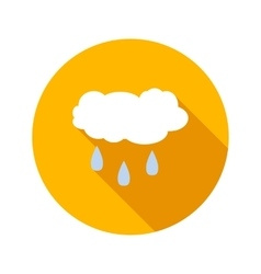 Rainy cloud flat icon vector image