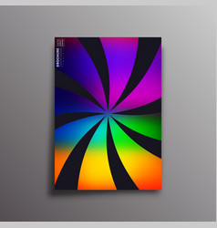 retro design poster with colorful gradient vector image