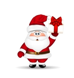 Santa Claus with Christmas gift in hand vector image vector image