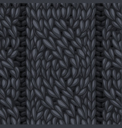 Seamless cable stitch pattern vector