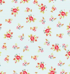 Seamless Pattern with small red roses vector