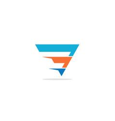 shape line colored triangle company logo vector image