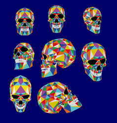 skull colorful from polygons typogra vector image